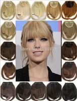 Wholesale pc Front bang Hair Bang Extension Clip in Hair Bang Synthetic Hair Bang Hair Fringe Color g