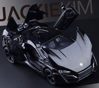 alloy die cast - FAST FURIOUS Lykan Hypersport Car Model High Quality Alloy Die cast Metal Cars Collection Toys