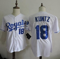 base fabric - New fabric Mens cheap Rusty Kuntz cool base Jersey Home white Rusty Kuntz Baseball Jersey