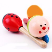 maracas - Colorful Baby Toy Wooden Maracas Egg Shakers Musical Toy Baby Rattle Early Educational Toy Hand gift