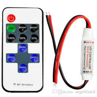 Wholesale LED Mini Dimmers light Controller Dimmer with RF Wireless Remote Control DC V A For LED Strip Light