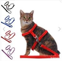 Wholesale Cat Adjustable Safety Belt Rope Nylon Harness Kitten Lead Leash I shaped belt makes your cat felt comfortable