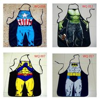 Wholesale 10pcs Superman stamp cosplay aprons women Anime Character Series Kitchen Apron Funny Personality Cooking apron Christmas November