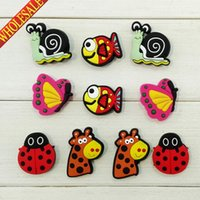 band flyer - Cute Flyers Aminals PVC Shoe Charms Cartoon Shoe Buckles Accessories Fit Bands Bracelets Croc JIBZ Kids Party Gifts Favors