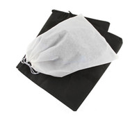bedding fabrics - Hot sales Travel Storage Shoe Dust proof Tote Dust Bag Case black white Non Woven Travel Shoe Storage Bag