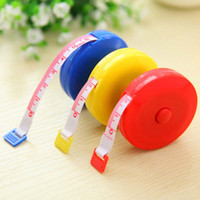 Wholesale Portable New Retractable Ruler Tape Measure inch Sewing Cloth Dieting Tailor M Plastic Soft Flat Tape Measure Tools