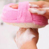 Wholesale 3PCE Luffa Bath Accessories Bath Sponges And Scrubbers Shaving Esponja Natural Sponge Cleansers Natural Loofah