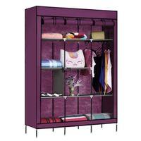 Wholesale 69 quot Portable Closet Storage Organizer Clothes Wardrobe Shoe Rack with Shelves