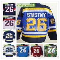 Wholesale Men s Best Stitched Ice Hockey Jerseys White Paul Stastny Jersey NWT Royal Blue Red Camo Men s Good Quality Shirts Fast Ship