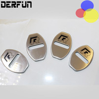 auto rust protection - 4 Car Door Lock Cover Protection Stainless Steel Decoration M Case Protect No Rust For dos auto