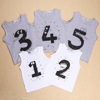 austrian vest - Summer baby boys vest baby girls vest kids Digital vest Austrian Lauderdale cotton vest