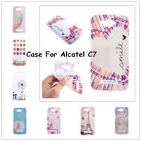 beautiful pop - Fashionable Beautiful Painting Soft TPU Plastic Phone Cases For Alcatel One Touch POP C7 OT D OT D Shell Back Cover