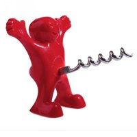Wholesale Kitchen Bar Red Fun Happy Man Shape Wine Bottle Opener Novelty Bar Tools
