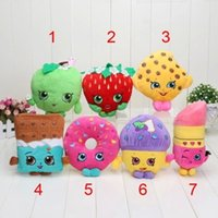 Cheap Shop 7 styles 17-25cm Strawberry apple fruit Series Stuffed Animals cute fruit Plush Toys about 10 inches EMS With tag free shipping C896