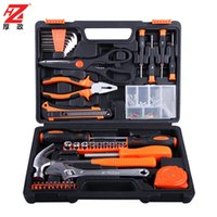 Wholesale NEW household hardware home kit hardware tool combination portable alloy steel kit Hand tools muti function metal tool box