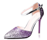 beautiful brand shoes - 2016 Newest Pink Pumps Sexy Cross Straps Pumps Beautiful Thin Heels Pointed Toe Dresses Shoes Brand Shoes Woman Plus Size34
