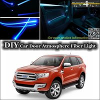 band everest - DIY Tuning Atmosphere Fiber Optic Band Lights interior Ambient Light For Ford Everest Door Panel illumination Refit