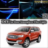 band everest - DIY Tuning Atmosphere Fiber Optic Band Lights interior Ambient Light For Ford Everest Door Panel illumination Refit