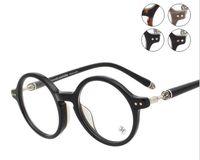 Wholesale Brand Glasses Chromehearts ELSTER Round Metal Frame Glasses Retro Glasses Frames Women eyeglass Mens Retro Glasses Frames with Brand Logo