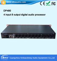Wholesale Professional digital audio processor amplifier DP480 Professional Digital Pre effects KTV kalaok Reverberation noise microphone processor