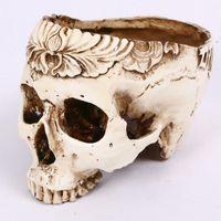 Wholesale Skull flower pot home decoration party bar reastaurant decor flower vases home pot