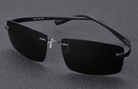 best polarized sunglasses - Highest quality New best Men s Ultralight Rimless Sunglasses Women Brand Designer Sun Glasses Men Driving Titanium Sunglasses