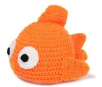 Cute baby accesorios de fotografía España-Traje con estilo hecho a mano de ganchillo lindo Sombrero hecho recién nacido bebé Fotografía Prop naranja pescados animales foto del bebé SY39