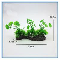 Wholesale New Hot Sale Aquarium Landscaping Artificial Plants Grass Leaf Plant Rockery Bonsai Accessories