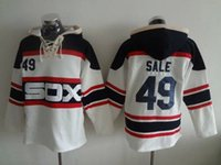baseball sweater sale - Chicago White Sox Baseball Sweaters Mens Chris Sale White Black Baseball Hoodies Stitched Name Number and Logos