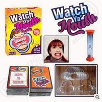 Wholesale Watch Ya Mouth Game Cards Mouthopeners Family Edition Hilarious Phrase Card Game Mouth Guard Party Game Board Game CCA5249