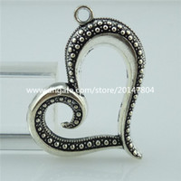 antique sweets - 14279 Alloy Nice Antique Silver Vintage Sweet Love Heart Pendant Jewelry