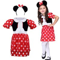 Wholesale Lovely Red Color Baby Kids Clothing performance Dancewear dress costume Halloween cosplay party dress stage performance clothing Heawear
