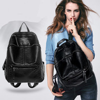 Wholesale backpacks small pretty style candy color ruck sack hotsale zipper simple women shopping bag ladies mobile bookbags student school backpacks