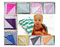 Wholesale Hot INS Children cotton blanket baby kids summer qulit infant gold dot zig zag children s blankets rug Factory price