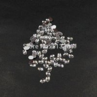Wholesale 500pcs X4MM Clear Faceted Oval Resin Silver Foiled Flatback Beads D Nail Art Phone DIY Jewelry Ornament Craft Decorations
