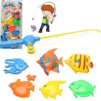 Wholesale 2016 Learning education magnetic fishing toy comes with fish and a fishing rods outdoor fun sports fish toy gift