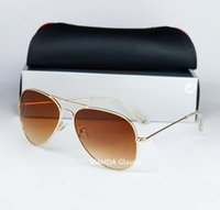 Wholesale VIAHDA High quality Brand Designer Fashion Mirror Sunglasses For Men and Women UV400 Vintage Sport Sun glasses With box and cases