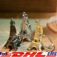 advertising souvenirs - 2016 Key Ring Advertising Gift Keychain Alloy Metal Retro Eiffel Tower Key Chain Tower French France Souvenir Paris Keyring XL