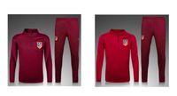 Wholesale 2016 survetement football Atletico madrid soccer jackets koke torres training sweatshirts tracksuits jogging set