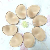 adhesive foam shapes - Foam Bra Enhancers Colors Bra Cups Padding Inserts Breast Lifter Black White Heart Shape Beige pairs
