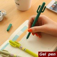 art cactus - 72 Gel pen Green grass Cactus pens caneta escolar for writing Stationery Office material escolar school supplies