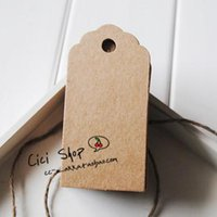 Wholesale Blank Kraft Paper Labels Retro Hang Message Tag For Gift Packing Table Number Cards High Quality x9cm
