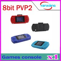 Wholesale DHL PVP2 PVP Game Player inch screen Games Console BIT AV output Multi Colors ZY PVP2
