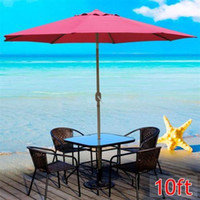 Wholesale 10 ft Aluminum Outdoor Patio Umbrella Market Yard w Crank Tilt New