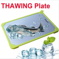 Wholesale THAWING PLATE Lightning Thaw Board Fast Frozen Food Board Meat Thawing Nature Preservation Anti Bacterial Aluminum Kitchen Creative Supplies