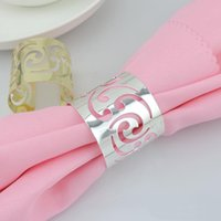 Wholesale Cutout Metal Napkin Rings Hotel Wedding Supplies Party Table Decoration Accessories Napkin Cloth Ring