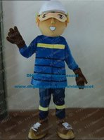 baseball player costume - Talented Brown Baseball Athlete Sportsman Player Mascot Costume Cartoon Character Mascotte Adult Blue Clothes ZZ979 Free Ship
