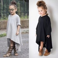Wholesale 2016 Girls Baby Childrens Dresses Clothing Rotation Prom Dresses Kids Clothes Spring Autumn Long Sleeve Fashion Girls Dress
