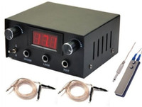 Doble pantalla digital de tatuaje de la máquina de suministro de cuerpo del arte Pro interruptor pedal clip de cable 99-1008-00