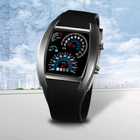 airs wristwatches - Hot Selling Flash LED Digital Silicone Watches Innovative Car Meter Air Race Dial Sports Wristwatch Luxury Electronic Binary Watches for Men